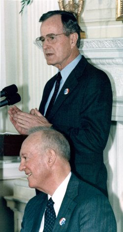 Pres. Bush commemorates the centennial of Dwight Eisenhower's birth