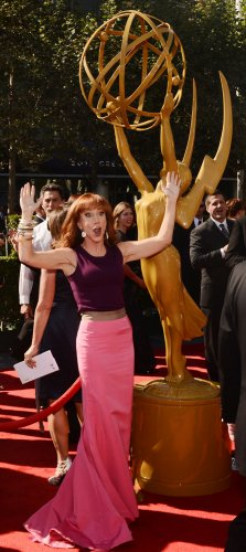 Kathy Griffin attends the 2012 Creative Arts Emmy Awards in Los Angeles