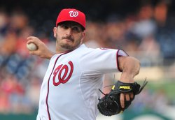 Washington Nationals' pitcher Jason Marquis pitches in Washington