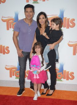 "Mario Lopez, wife and children attend the ""Trolls"" premiere in Los Angeles"