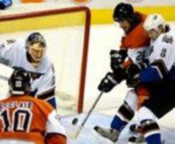 WASHINGTON CAPITALS AND PHILADELPHIA FLYERS IN NHL ICE HOCKEY
