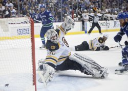First game of NHL Stanley Cup Final, Vancouver Canucks home to Boston Bruins
