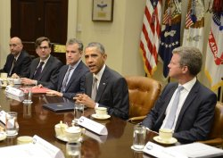 President Obama attends meeting on financial regulation at the White House