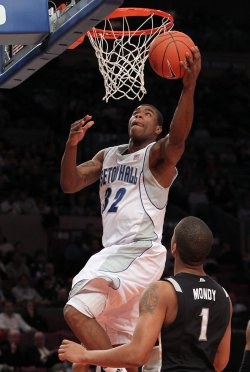 Seton Hall Pirates Jeff Robinson at the NCAA Big East Men's Basketball Championships in New York