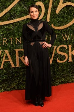 Noomie Rapace attends the British Fashion Awards in London