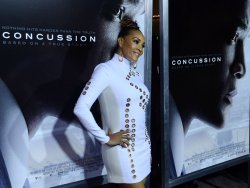 "Vivica A. Fox attends the ""Concussion"" screening in Los Angeles"
