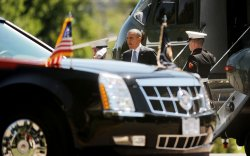 President Obama with visits the Walter Reed National Military Medical Center in Maryland