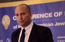 Israeli Minister Naftali Bennett Speaks At Conference Of Presidents, Jerusalem