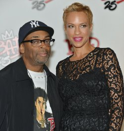 Spike Lee and Tonya Lewis Lee attend 'Bad 25' after party at the Toronto International Film Festival