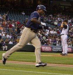 Padres Tejada Hits Two-Run Home Run Against the Rockies in Denver