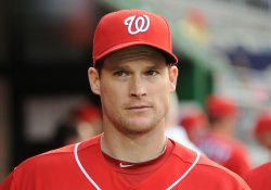 Nationals Willingham warms up before game against Orioles in Washington