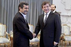 Iranian President meets with Turkish Foreign Minister Ahmet Davutoglu in Tehran