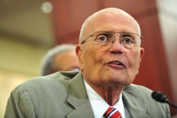 Rep. John Dingell (D-MI) speaks at a news conference celebrating the 46th anniversary of Medicare in Washington