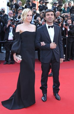 Diane Kruger and Fatih Akin attend the Cannes Film Festival