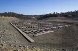 California's Folsom Lake at all time low level during State wide drought