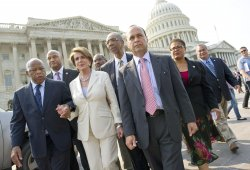 Democratic members of the House of Representatives walk out on Holder contempt vote in Washington