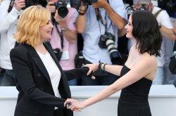 Emmanuelle Seigner and Eva Green attend the Cannes Film Festival