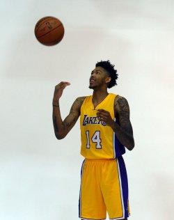 Brandon Ingram participates in Lakers media day