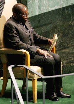 President of Zimbabwe Mugabe addresses General Assembly at United Nations