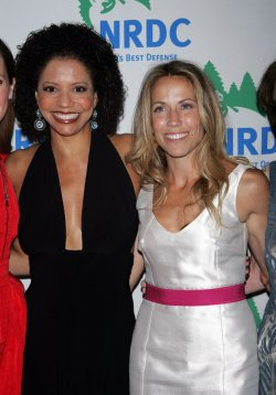"Gloria Reuben and Sheryl Crow arrive for the Natural Resources Defense Council's 12th Annual ""Forces for Nature"" benefit in New York"
