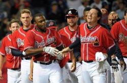 The Atlanta Braves play the Washington Nationals in Atlanta