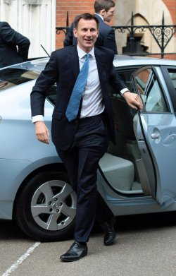 Jeremy Hunt arrives at the Leveson Inquiry in London