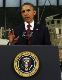 U.S. President Barack Obama delivers an address to the American people in Afghanistan