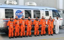 NASA prepares Space Shuttle Discovery for launch from the Kennedy Space Center in Florida