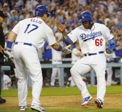 Los Angeles Dodgers vs. Atlanta Braves in Game 3 of the NLDS in Los Angeles
