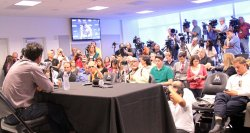 Marlins Manager Ozzie Guillen holds press conference Miami