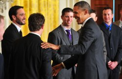 President Barack Obama honors NASCAR Sprint Cup Series Champion Jimmie Johnson in Washington