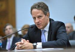 Treasury Secretary Timothy Geithner testifies on Capitol Hill in Washington