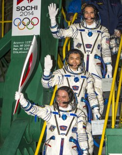 The Olympic Tourch Goes in Space in Kazakhstan