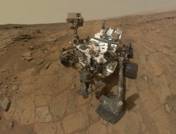 Mars Rover Curiosity on Mars