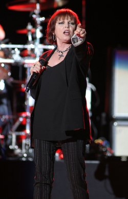 Pat Benatar performs in concert in West Palm Beach, Florida