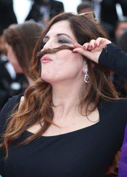 Agnes Jaoui attends the Cannes Film Festival