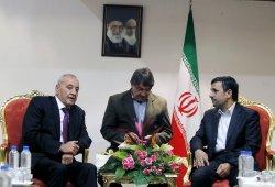 Lebanon's parliament speaker Nabih Berri in Tehran, Iran