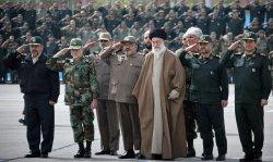 Iran's supreme leader Ayatollah Ali Khamneie visits an Army base