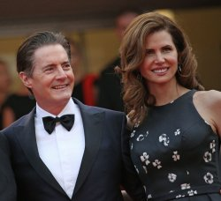 Kyle MacLachlan and Desiree Gruber attend the Cannes Film Festival