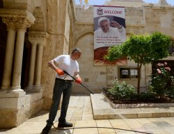 Posters Of Pope Francis In Bethlehem, West Bank