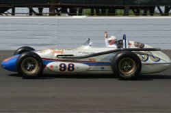 Parnelli Jones honored on Pole Day in Indianapolis, Indiana.