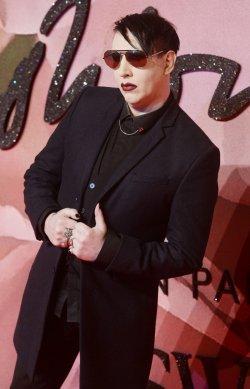 Marilyn Manson at The Fashion Awards in London