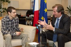 Freed Israeli Soldier At French Embassy in Tel Aviv
