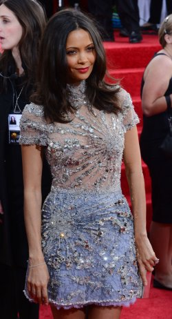 Thandie Newton attends the 70th annual Golden Globe Awards in Beverly Hills, California