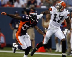 CLEVELAND BROWNS VS DENVER BRONCOS IN DENVER
