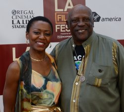 """Louis Gossett Jr. and Barbara Eve Harris attend the """"Middle of Nowhere"""" premiere in Los Angeles"""