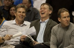 Denver Mayor Hickenlooper Enjoys Play in Game Two in Denver