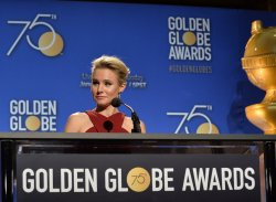 Kristen Bell announces the nominees for the 75th Golden Globe Awards in Beverly Hills