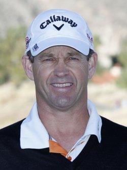 Lee Janzen arrives at the Bob Hope Classic Golf Pro-Am in La Quinta
