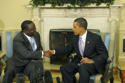 President Obama meets with the Prime Minister of Zimbabwe Morgan Tsvangirai in Washington